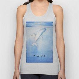 Nada - White Humpback Whale Unisex Tank Top