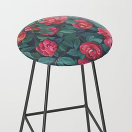 Camellias, lips and berries. Bar Stool