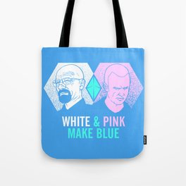 WHITE & PINK MAKE BLUE Tote Bag