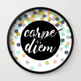 Carpie Diem 02 Wall Clock