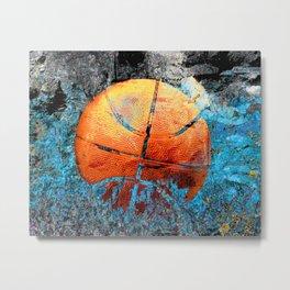 Basketball art swoosh 79 Metal Print