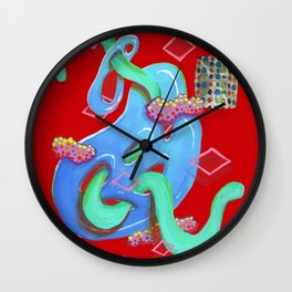 Alien Organism 20 Wall Clock