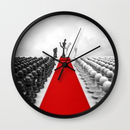 Wedding Chess / 3D render of checkmating ceremony Wall Clock