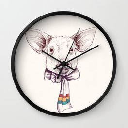 Pig and scarf Wall Clock