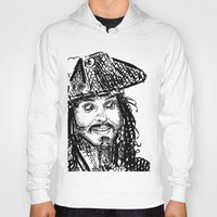 jack sparrow Hoodies featuring Jack Sparrow by Brittney Patterson