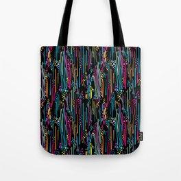 Black Rainbow Doodle & Dot Tote Bag
