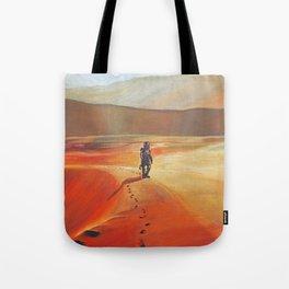 The Martian Mars walk inspired chalk drawing Tote Bag
