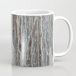 Rainy Days // Black White Gray Drippy Water Abstract Painting Rain Cloud Dripping Contemporary Art Coffee Mug