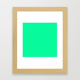 Spring Green Colour Framed Art Print