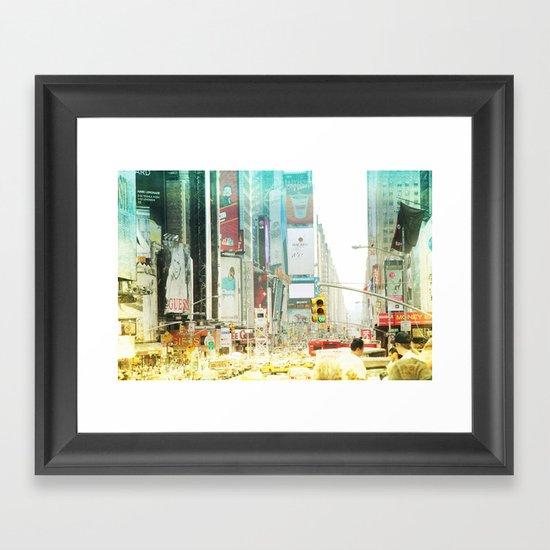 time square _ new york city Framed Art Print