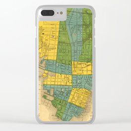 Vintage Map of Charleston SC (1883) Clear iPhone Case