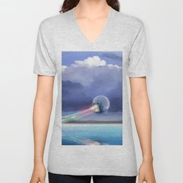 Cruising over the beach Unisex V-Neck