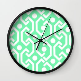 Ethnic Pattern (Mint) Wall Clock