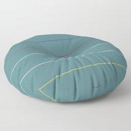 Postmodern Primary Horizon Floor Pillow