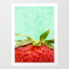 Strawberry Top Art Print