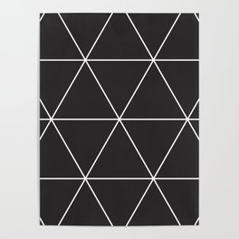 blackout triangles Poster