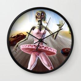 Zombie Ballerina Wall Clock