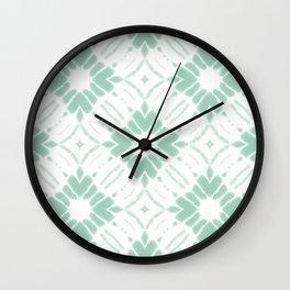 Watercolor Shibori Sea Salt Wall Clock