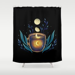 A Cup of Moonshine Shower Curtain