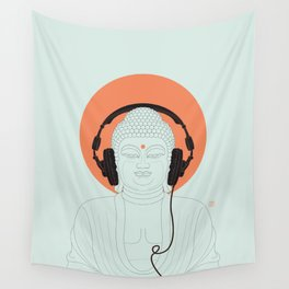 Buddha : Listen to Om! Wall Tapestry