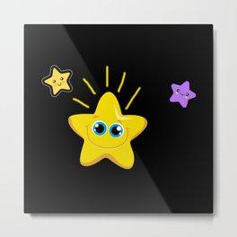 Star Motif Star Gift Idea Design Metal Print