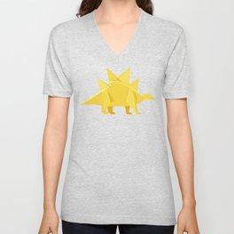 Origami Stegosaurus Flavum Unisex V-Neck