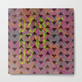 Don't Give Up Quote with Geometric Triangle Pattern Metal Print
