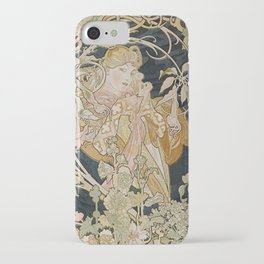 1898 - 1900 Femme a Marguerite by Alphonse Mucha iPhone Case