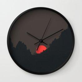 Vang Vieng Sunset (portrait) Wall Clock