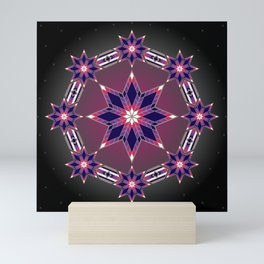 Morning Star Circle (Purple) Mini Art Print