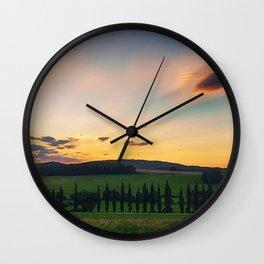 Tuscany, Italy Sunset (Last Glimpse) Wall Clock