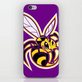bee mascot yellow purple iPhone Skin