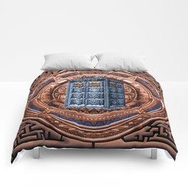 Aztec Tardis Doctor Who Full Color Pencils Sketch Comforters