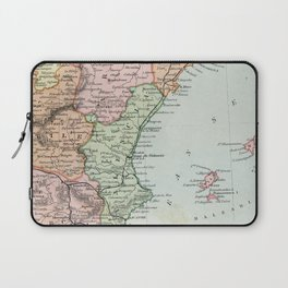 Vintage Map of Spain and Portugal Laptop Sleeve