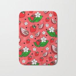 Strawberry Popart by Nico Bielow Bath Mat