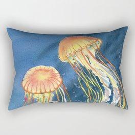 Dancing of Jellyfish Rectangular Pillow