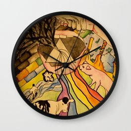 Dark Side Of The Wall Wall Clock