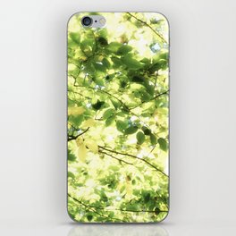 Bright Day-green leaves iPhone Skin