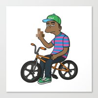 tyler the creator Canvas Prints featuring TYLER THE CREATOR  by Zhi-Yun
