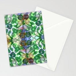 Vegan pattern Stationery Cards