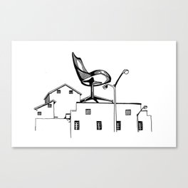 Chair on Factory Canvas Print