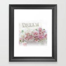 Dream Pink Roses Floral Print - Romantic Shabby Chic Dream Floral Home Decor Framed Art Print