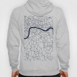 London White on Navy Street Map Hoody