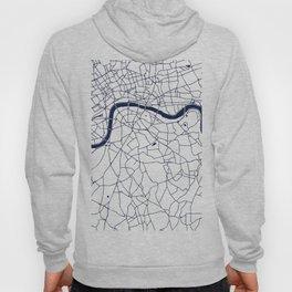 London White on Navy Street Map Hoody