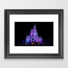 Walt Disney World Christmas Lights Framed Art Print