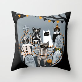 Decorating the Cemetery  Throw Pillow