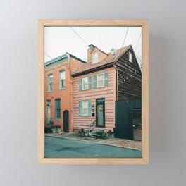 Rowhouses, Fells Point Framed Mini Art Print
