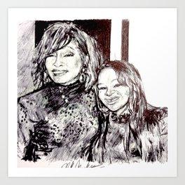 NIPPY & WHITNEY Art Print