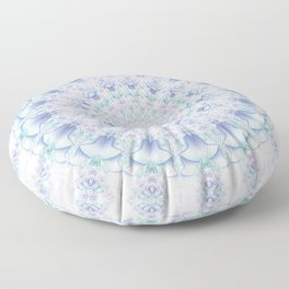 Purple, Blue, and Green Pastel Mandala Floor Pillow