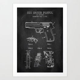 Sig Sauer Pistol Art Print